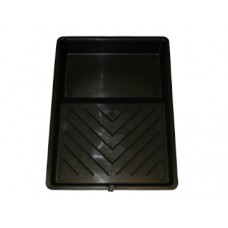 9 Inch. Black plastic paint roller tray